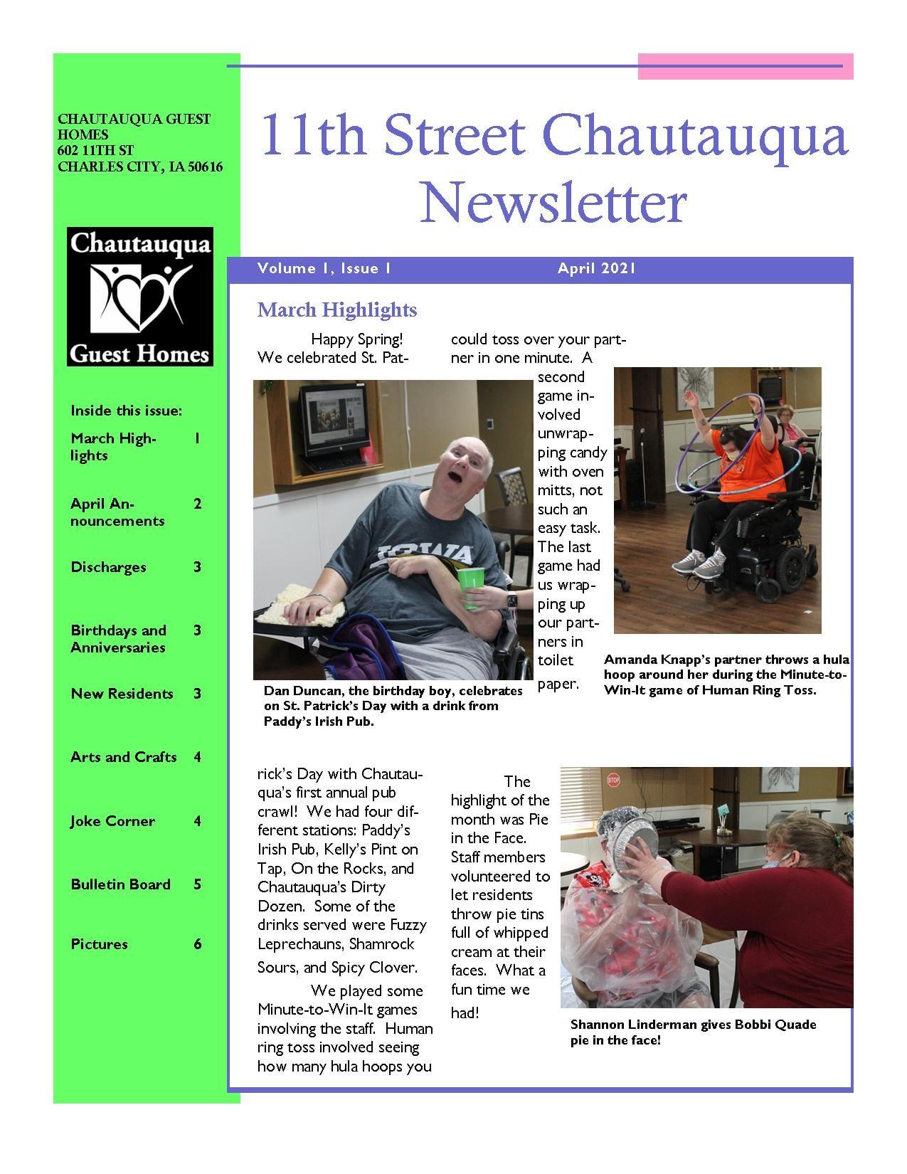 11th Street April Newsletter